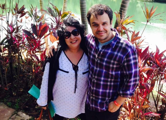 Mariza e Adrilles comemoram Dia do Amigo juntos em Belo Horizonte (Foto: Arquivo Pessoal)