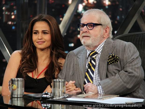 Nanda Costa participa do Programa do Jô desta segunda-feira (Foto: TV Globo/Programa do Jô)