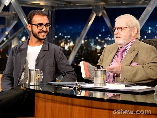Raphael Montes participa do Programa do Jô desta terça-feira (Foto: TV Globo/Programa do Jô)
