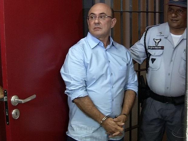Riva prestou depoimento no Fórum de Cuiabá, nesta terça (9). (Foto: Reprodução/TVCA)