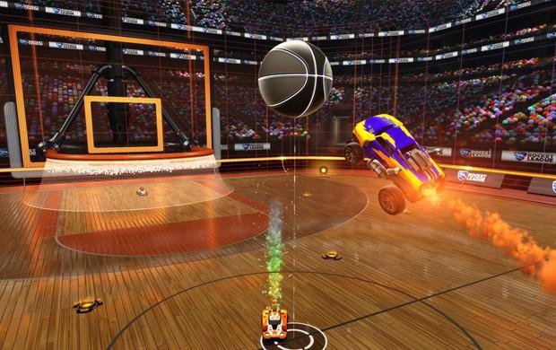 Produtora de 'Rocket League' postou foto de novo modo de basquete (Foto: Divulgação/Psyonix)