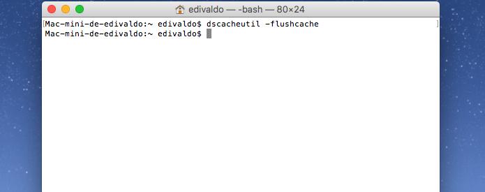 Limpando o cache DNS no Mac (Foto: Reprodução/Edivaldo Brito)
