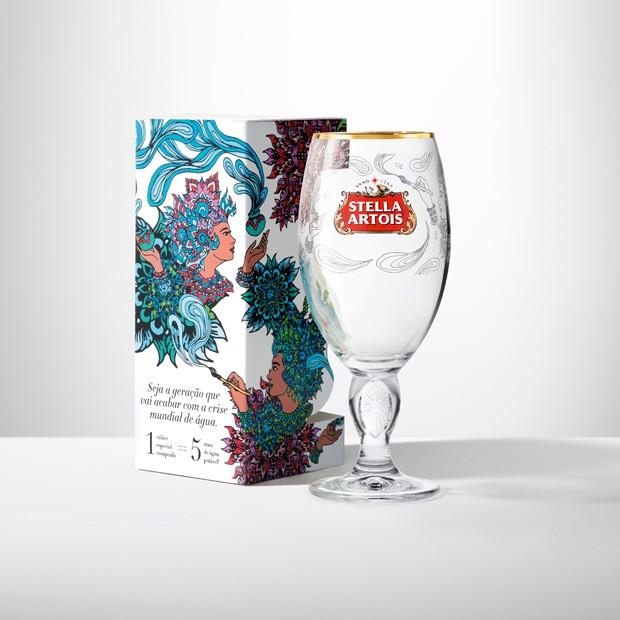 Edição limitada de Stella Artois em parceria com a ONG water.org (Foto: Divulgação)