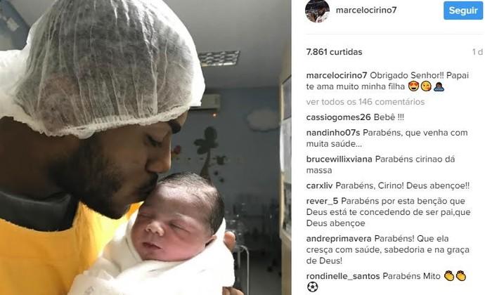 Marcelo Cirino Flamengo (Foto: Reprodução Instagram)
