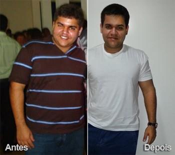 Giovanni de Carvalho antes e depois de perder 33 quilos (Foto: Arquivo pessoal)