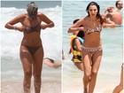 Mudança no corpo de Patrícia Poeta impressiona; veja fotos e compare