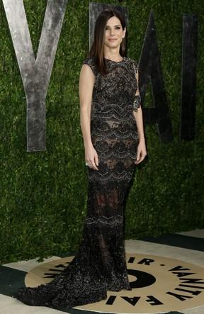 Sandra Bullock em festa pós-Oscar nos EUA (Foto: Danny Moloshok/ Reuters)
