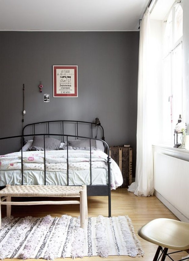 Décor do dia quarto vintage e cinza Casa Vogue Décor  ~ Quarto Vintage Cinza