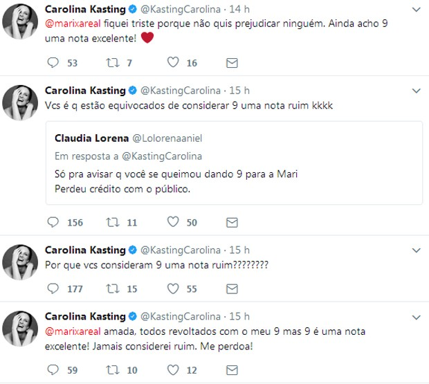 Posts de Carolina Kasting (Foto: Reprodução)