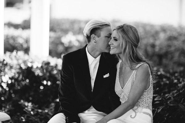 Glennon Doyle Melton e Abby Wamback no dia de seu casamento (Foto: Reprodução instagram)