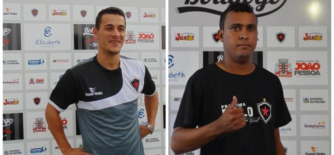 Belusso e Jeorge foram liberados pelo Botafogo-PB (Foto: Montagem / GloboEsporte.com/pb)