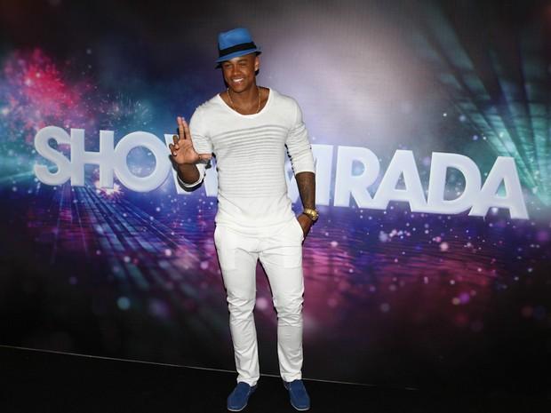 Léo Santana na gravação do Show da Virada em São Paulo (Foto: Cláudio Augusto/ Foto Rio News)