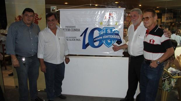 Luiz Omar apresenta a chapa 'Centenário', com Victor Cunha para presidente do Paysandu (Foto: Elivaldo Pamplona)