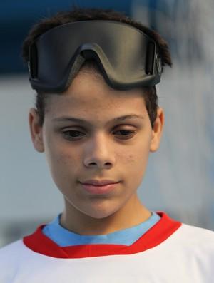 Paulo Ricardo Lima de 14 anos sofreu um câncer e precisou retirar os olhos (Foto: Ricardo Bufolin/Getty Images)