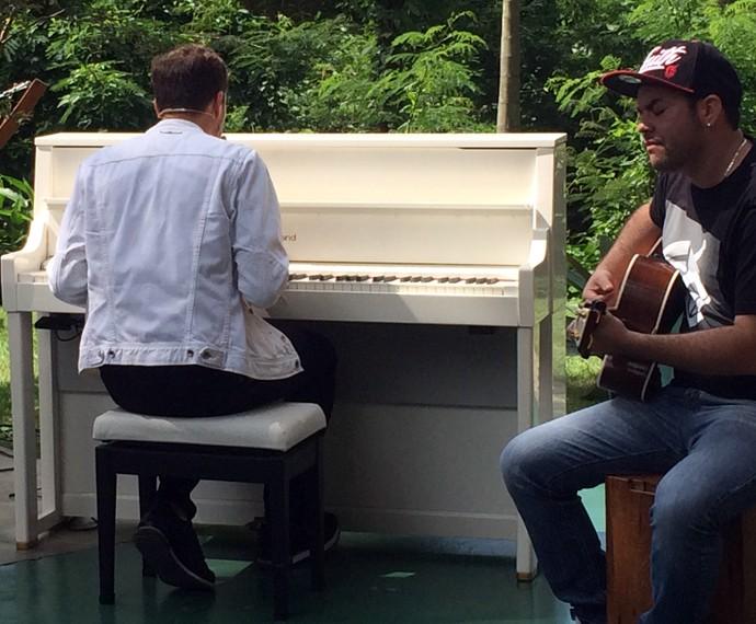 André Valadão se apresentou no É De Casa do último sábado, 5/12 (Foto: Larissa Moggi / Gshow)