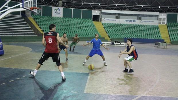 Equipe Cajuína de basquete (Foto: Wenner Tito)