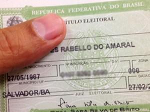 Título de eleitor, eleições, Bahia (Foto: Divulgação / TRE-BA)