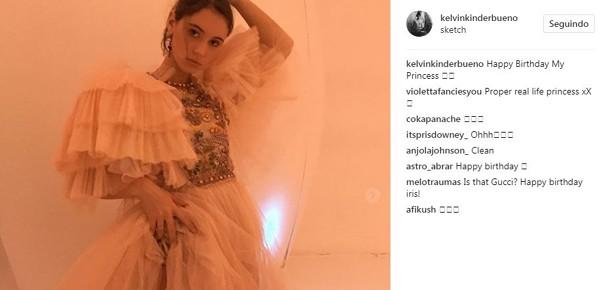 Kelvin parabenizou a crush em post do Instagram (Foto: Divulgação)