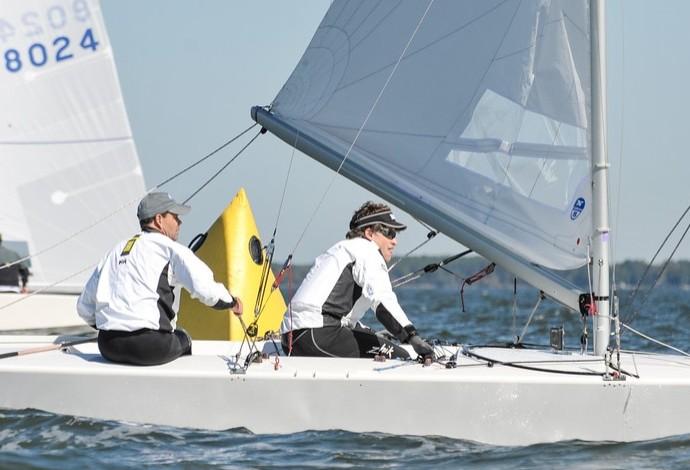 Torben Grael e Guilherme Almeida, campeões do norte-americano de Star vela (Foto: Dan Phelps)