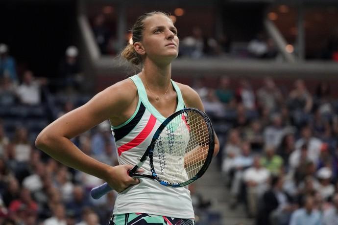 Karolina Pliskova é eliminada no US Open e perde o número 1 do mundo (Foto: TIMOTHY A. CLARY / AFP)