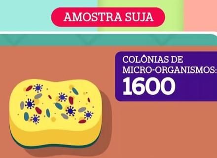 Saiba como limpar a esponja de cozinha para ficar livre de fungos e bactérias
