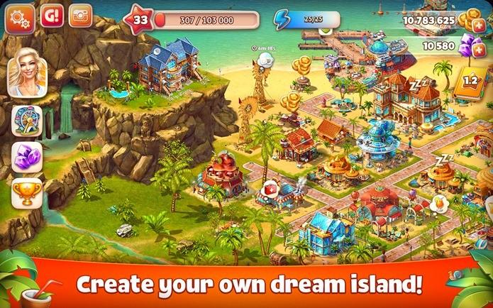 Simples e casual, Paradise Island 2 está todo em português (Foto: Divulgação)