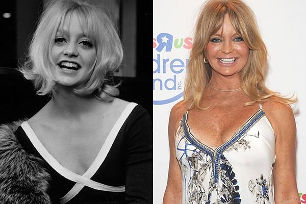 Kate Hudson tem para quem puxar! A mãe da atriz, Goldie Hawn, tem beleza, talento e charme de sobra. Goldie ficou famosa por trabalhos como 'Ladrão que Rouba Ladrão' e 'Shampoo' e apesar de andar meio desaparecida nos dias de hoje, manteve uma carreira sólida durante os anos 90, adicionando sucessos de bilheteria e crítica como 'O Clube das Desquitadas' ao seu currículo (Foto: Getty Images)