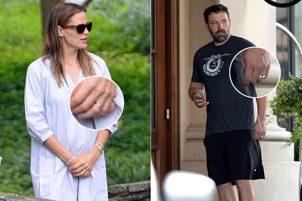 Ben Affleck e Jennifer Garner  ainda usam alianças (Foto: AKM-GSI / AKM-GSI)