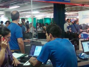 Espaço reúne representantes de construtoras e imobiliárias (Foto: Divulgação/ Ascom Caixa)