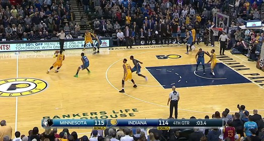 wolves 115 x 114 Pacers