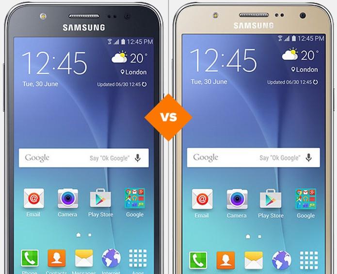 Galaxy J5 ou Galaxy J7: confira qual celular da samsung se sai melhor em comparativo (Foto: Arte/TechTudo)