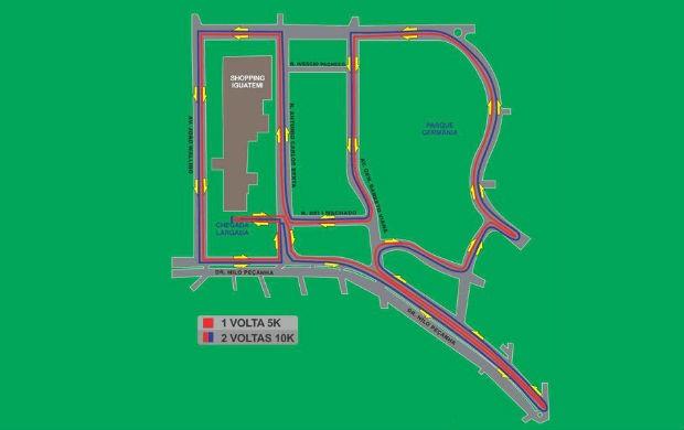 Percurso Track & Field Run Series Porto Alegre (Foto: Divulgação / Run Series)