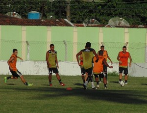 botafogo-pb, treino do botafogo-pb (Foto: divulgação)