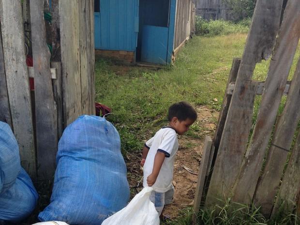 Famílias alugaram imóveis no município (Foto: Dayanne Saldanha/G1)