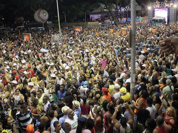 É O Tchan desfila no Campo Grande (Foto: Robson Oliveira/Ag Haack)
