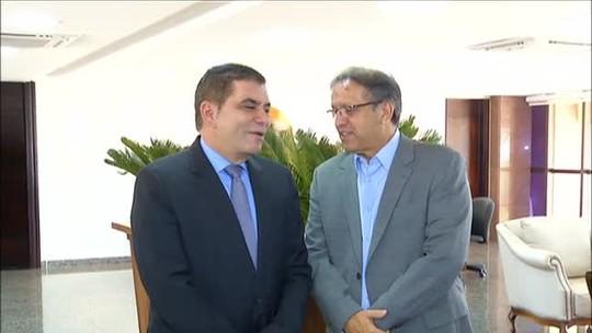Amastha e Marcelo Miranda discutem saúde e segurança pública em reunião
