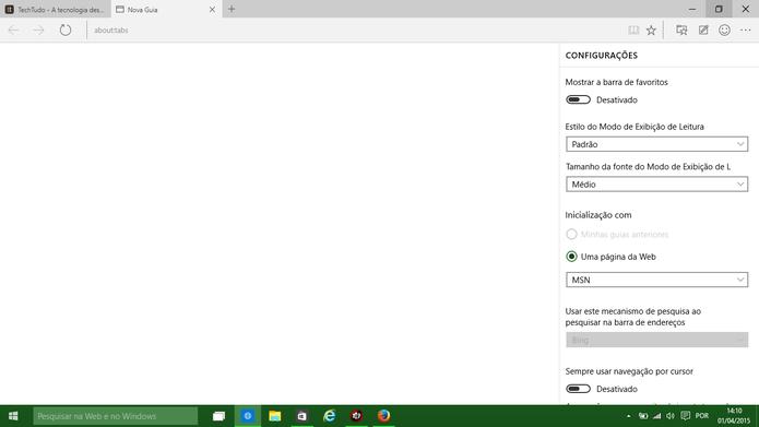 Spartan pode permitir no futuro que usuário substitua o Bing pelo Google (Foto: Reprodução/Elson de Souza)