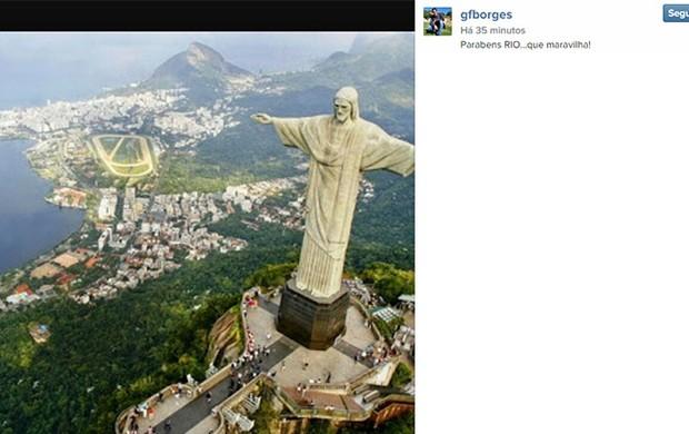 Gustavo Borges homenagem ao Rio no Instagram