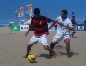 Flamengo futebol de areia (Foto: Divulgação/FEBSERJ)