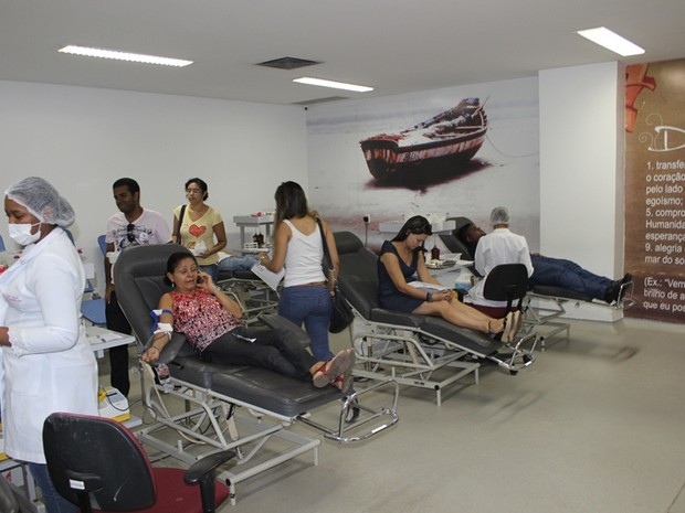 Movimento de pessoas aumento após campanha no Hemopi (Foto: Gil Oliveira/ G1)