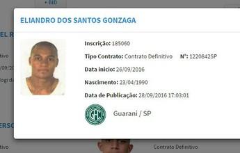 Eliandro aparece no BID e está livre para estrear pelo Guarani na Série C