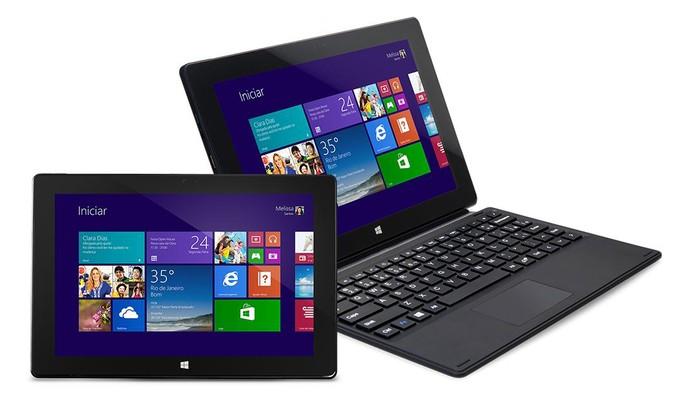 Notebook com design 2 em 1 oferece Windows 10 e processador Atom (Foto: Divulgação/Daten)