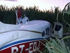 PF investiga avião com contrabando que fez pouso forçado em canavial
