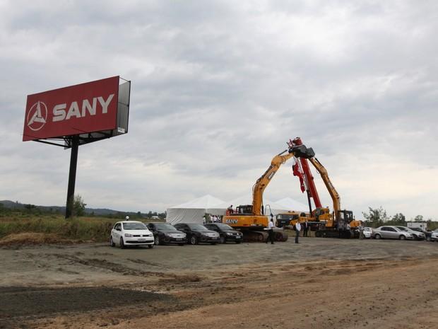 Nova unidade da Sany em Jacareí deve ser inaugurada no fim de 2016 (Foto: Alex Brito/ Sany)