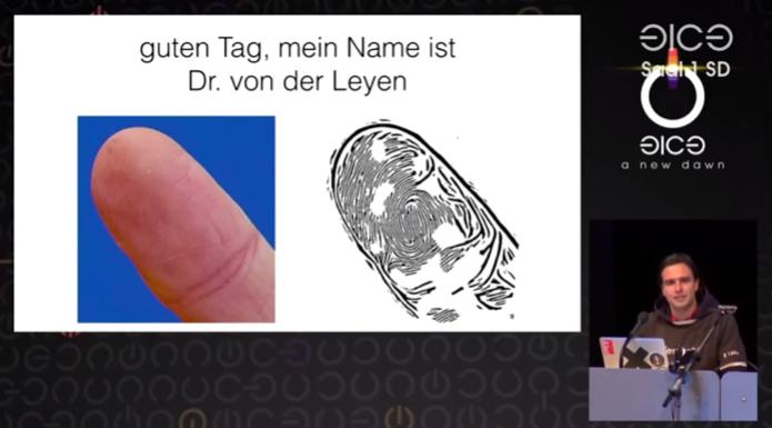 Hacker demonstra como conseguiu obter digitais de ministra só com uma foto (Foto: divulgação)