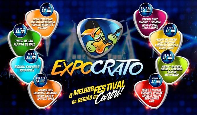 Programação da Expocrato 2016 (Foto: Divulgação)
