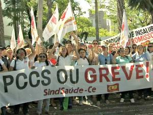 Agentes de saúde e sanitaristas querem uma audiência com o governador. (Foto: TV Verdes Mares/Reprodução)