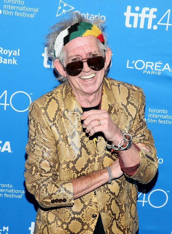 O músico Keith Richards conseguiu ser preso no pacífico Canadá (Foto: Getty Images)