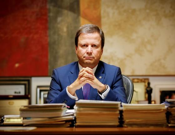 Lamachia na sede da OAB em Brasilia.Ele Afirma que Temer não poderia ter ouvido os crimes de Joesley sem tomar providências (Foto:  Sérgio Lima/ÉPOCA)