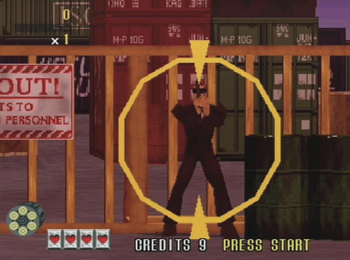 GoldenEye 007: Game seguiria a fórmula de Virtual Cops, da Sega, com jogabilidade sobre trilhos. (Foto: Reprodução/ retrogamer.net)